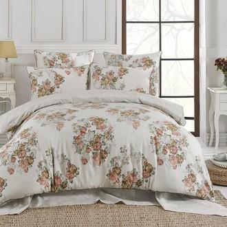 Комплект постельного белья Karna DELUX FLORKA сатин хлопок