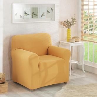 Чехол на кресло Karna NAPOLI (горчичный)