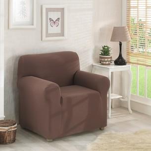 Чехол на кресло Karna NAPOLI коричневый