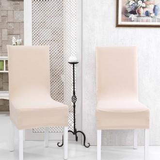 Набор чехлов на стулья (2 шт.) Karna NAPOLI (кремовый)