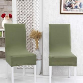 Набор чехлов на стулья (2 шт.) Karna NAPOLI (зелёный)