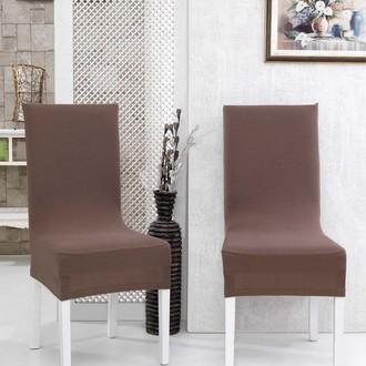 Набор чехлов на стулья (2 шт.) Karna NAPOLI (коричневый)