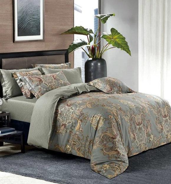 Комплект постельного белья Tango TS-X20 сатин хлопок евро, фото, фотография