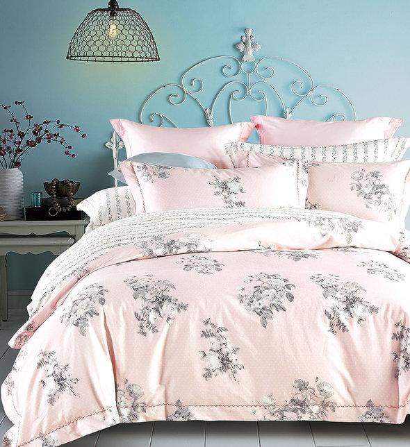 Постельное белье Tango TS-X06 хлопковый сатин 2-х спальный (нав. 70*70 см), фото, фотография