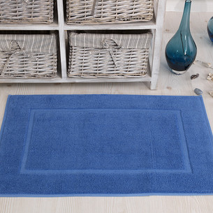 Коврик для ванной Karna GREN махра хлопок голубой 50х70