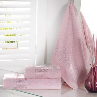 Полотенце для ванной Karna SAHRA махра хлопок (розовый)