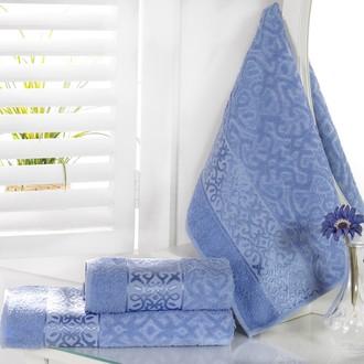 Полотенце для ванной Karna SAHRA махра хлопок (голубой)