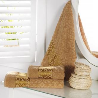 Полотенце для ванной Karna SAHRA махра хлопок (бежевый)