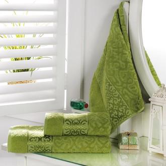 Полотенце для ванной Karna SAHRA махра хлопок (зелёный)