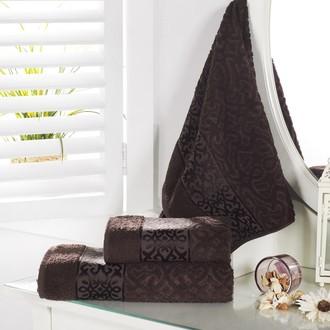 Полотенце для ванной Karna SAHRA махра хлопок (коричневый)