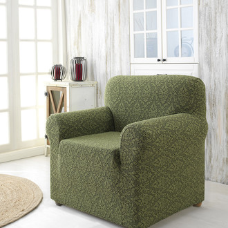 Чехол на кресло Karna MILANO трикотаж зелёный