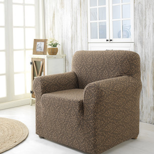 Чехол на кресло Karna MILANO трикотаж коричневый