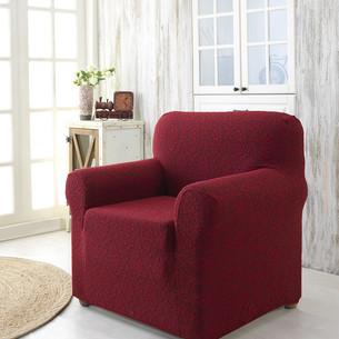 Чехол на кресло Karna MILANO трикотаж бордовый