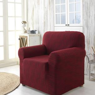 Чехол на кресло Karna ROMA трикотаж бордовый