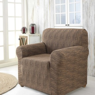 Чехол на кресло Karna ROMA трикотаж (кофейный)