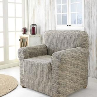 Чехол на кресло Karna ROMA трикотаж кремовый
