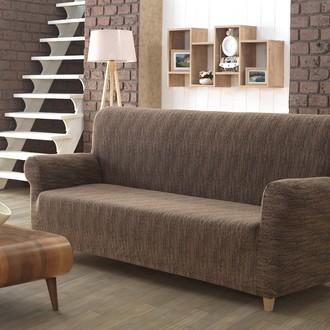 Чехол на диван Karna ROMA трикотаж (кофейный)