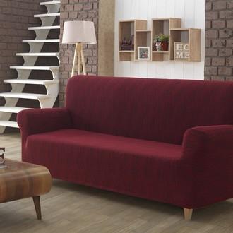 Чехол на диван Karna ROMA трикотаж бордовый