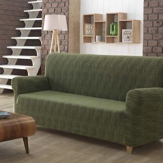 Чехол на диван Karna ROMA трикотаж зелёный