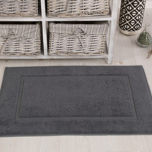 Коврик для ванной Karna GREN махра хлопок серый 50х70