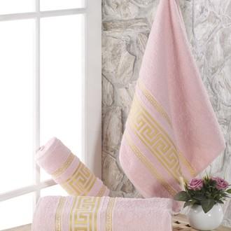 Полотенце для ванной Karna ITEKA махра хлопок (светло-розовый)