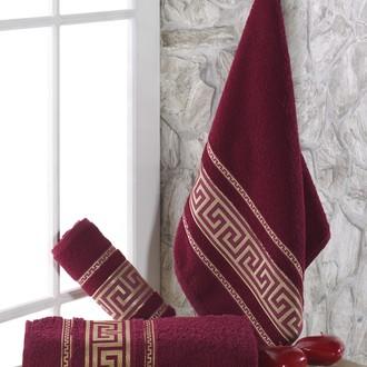 Полотенце для ванной Karna ITEKA махра хлопок (бордовый)