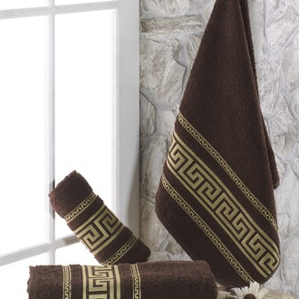 Полотенце для ванной Karna ITEKA махра хлопок (коричневый)
