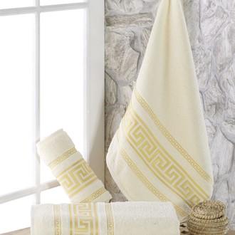 Полотенце для ванной Karna ITEKA махра хлопок (кремовый)