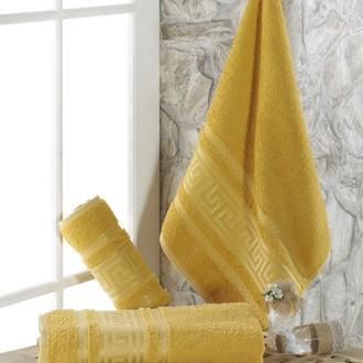Полотенце для ванной Karna ITEKA махра хлопок (горчичный)