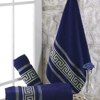 Полотенце для ванной Karna ITEKA махра хлопок (синий)