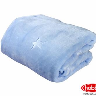 Детский плед-покрывало Hobby ОБЛАЧКО велсофт (голубой)
