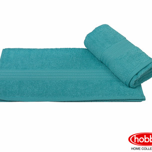Полотенце для ванной Hobby Home Collection RAINBOW хлопковая махра тёмно-бирюзовый 70х140