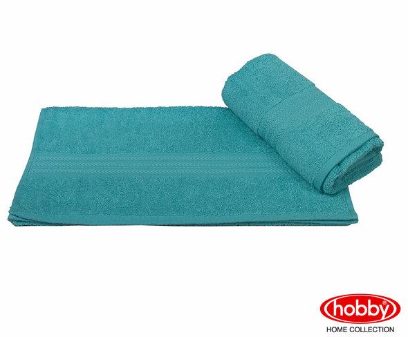 Полотенце для ванной Hobby Home Collection RAINBOW хлопковая махра (тёмно-бирюзовый) 70*140, фото, фотография