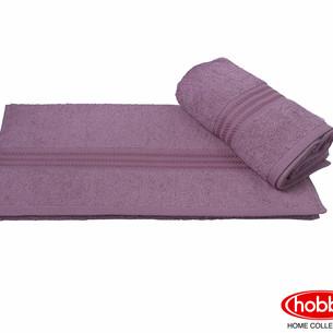 Полотенце для ванной Hobby Home Collection RAINBOW хлопковая махра тёмная пудра 50х90
