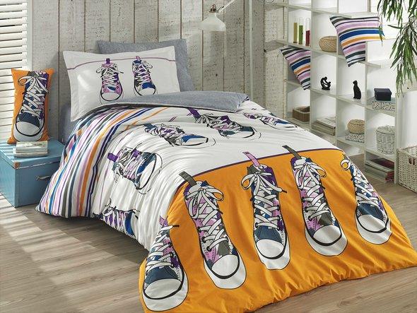 Комплект постельного белья Hobby LAYLA поплин хлопок (жёлтый) 1,5 спальный, фото, фотография