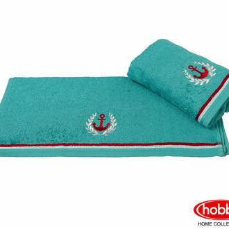 Полотенце для ванной Hobby Home Collection MARITIM хлопковая махра (бирюзовый)
