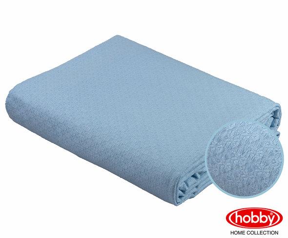 Покрывало Hobby ANASTASIYA пике хлопок (голубой) 220*240, фото, фотография