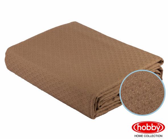 Покрывало Hobby ANASTASIYA пике хлопок (коричневый) 220*240, фото, фотография