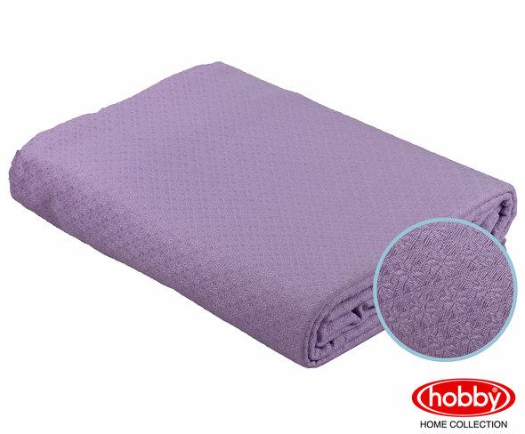 Покрывало Hobby ANASTASIYA пике хлопок (лиловый) 220*240, фото, фотография