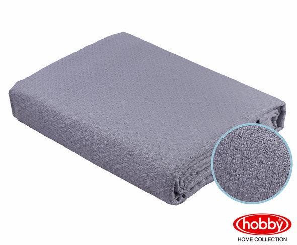 Покрывало Hobby ANASTASIYA пике хлопок (серый) 220*240, фото, фотография