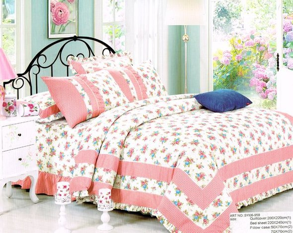 Комплект постельного белья Tango ПРОВАНС 959 хлопковый сатин евро, фото, фотография