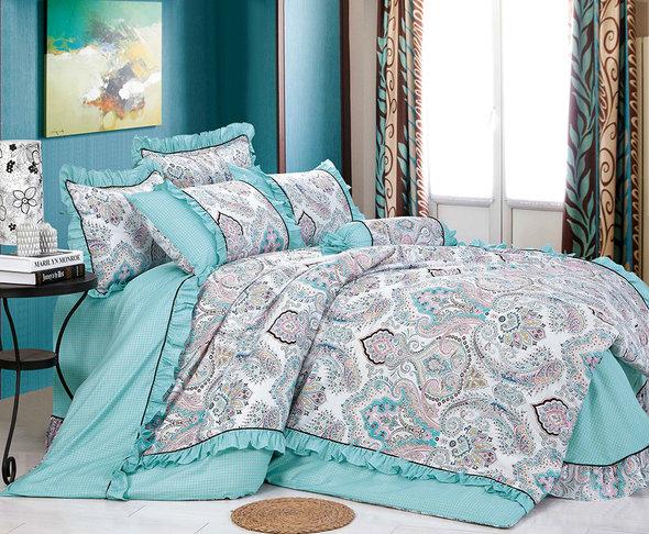 Комплект постельного белья Tango ПРОВАНС 940 хлопковый сатин евро, фото, фотография