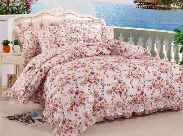 Комплект постельного белья Tango ПРОВАНС 943 хлопковый сатин евро, фото, фотография