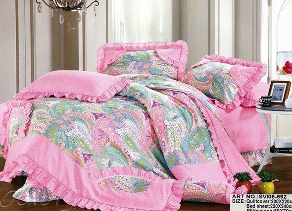 Комплект постельного белья Tango ПРОВАНС 992 хлопковый сатин 1,5 спальный, фото, фотография