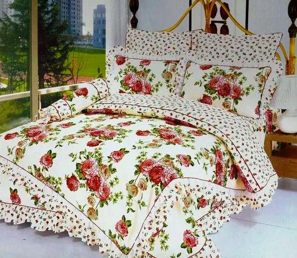 Комплект постельного белья Tango ПРОВАНС 939 хлопковый сатин евро, фото, фотография