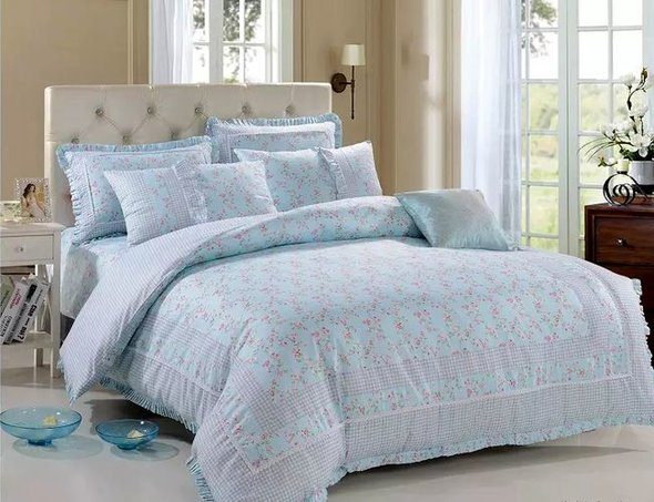 Комплект постельного белья Tango ПРОВАНС 955 хлопковый сатин евро, фото, фотография