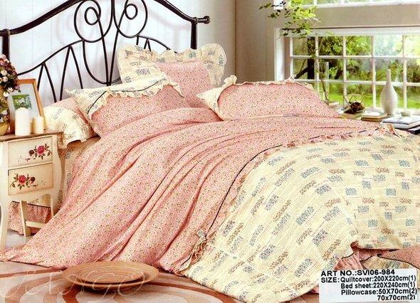 Комплект постельного белья Tango ПРОВАНС 984 хлопковый сатин 1,5 спальный, фото, фотография