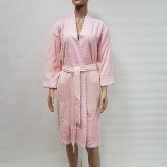 Халат женский Nusa N-0101 бамбуковая махра (розовый)