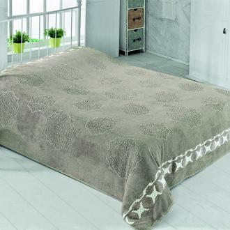 Махровая простынь-покрывало-одеяло Pupilla ELENOR махра бамбук (тёмно-коричневый)