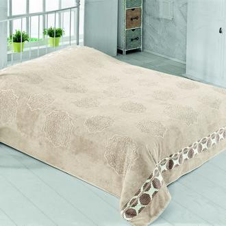 Махровая простынь-покрывало для укрывания Pupilla ELENOR махра бамбук (кремовый)